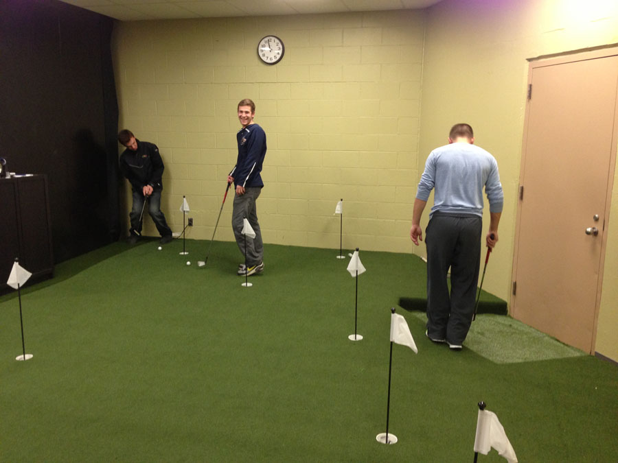 Indoor workplace putting green at Drexel