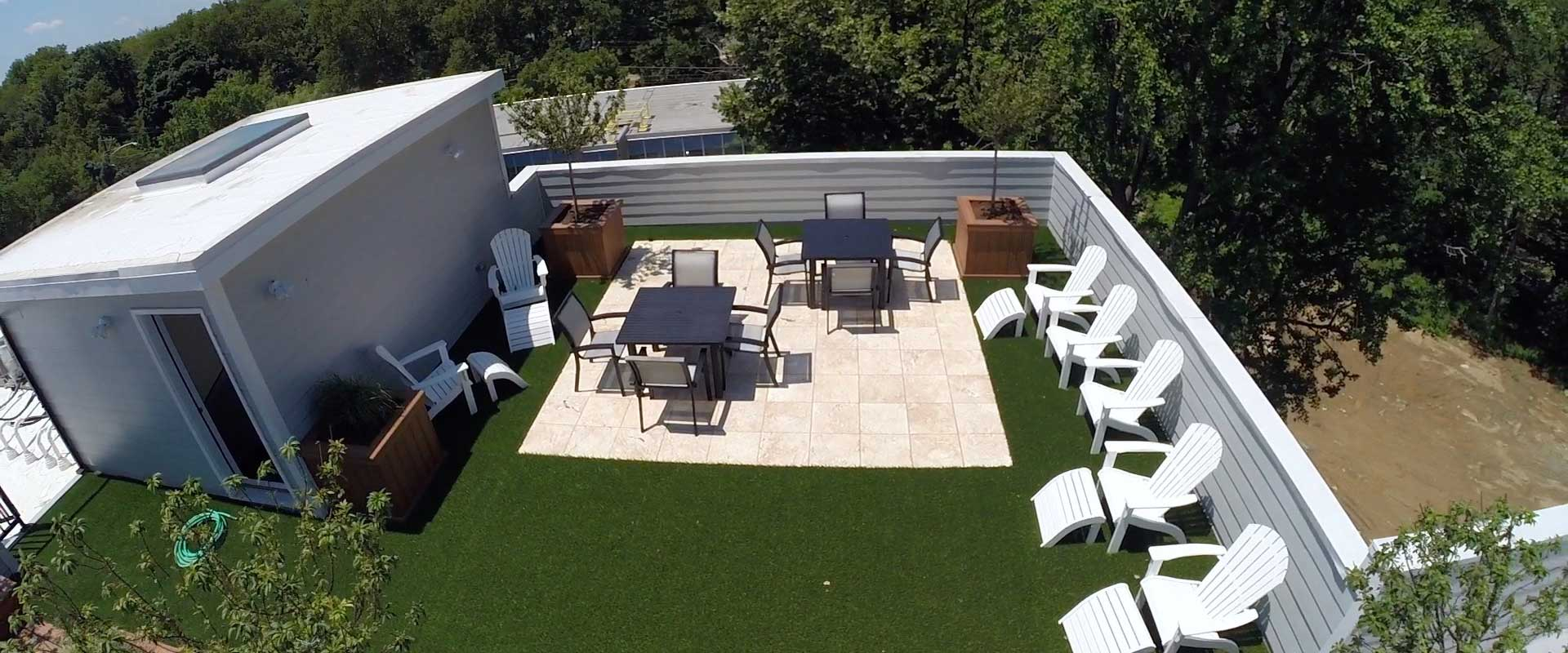 Install Artificial Grass For Your Roof Deck Amp Patio In